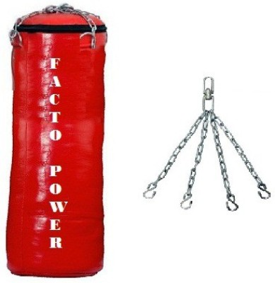 FACTO POWER 2 FEET LONG , SRF - STANDARD MATERIAL , UNFILLED WITH HANGING CHAIN Hanging Bag(3, 1 kg)