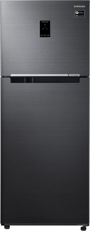 Samsung 394 L Frost Free Double Door Refrigerator(RT39M5538BS/TL, Black Inox, 2017)