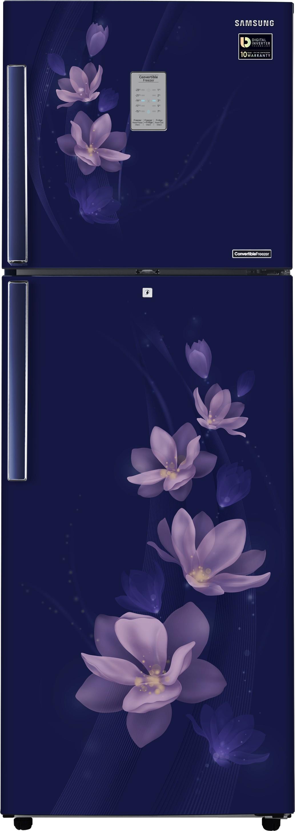 Samsung 321 L Frost Free Double Door Refrigerator(RT34M3954U7/HL, Magnolia Blue, 2017)