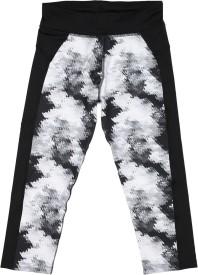 Puma Printed Girls Black Tights