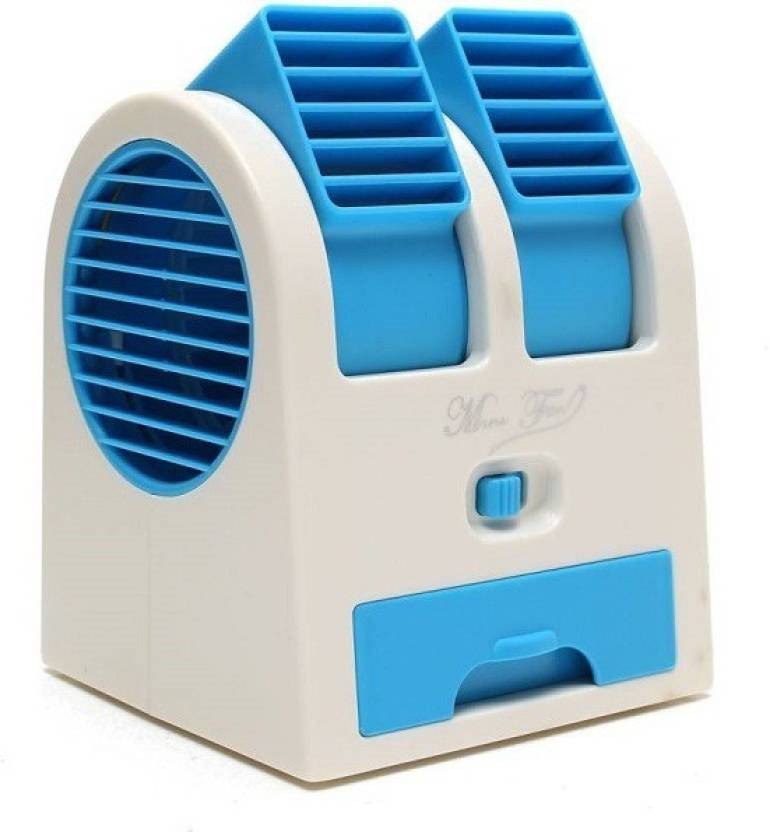 View Defloc Mini Bladeless Air Cooler MF33 0 Blade Table Fan(Multicolor) Home Appliances Price Online(Defloc)