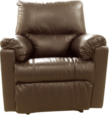 Amey Leatherette Manual Recliners(Finish Color - Brown)