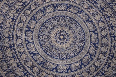 Spangle Printed 6 Seater Table Cover(Multicolour, Cotton) at flipkart