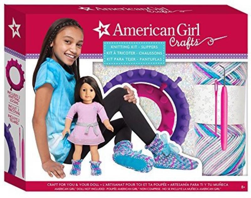 American Girl Slippers Knitting Kit