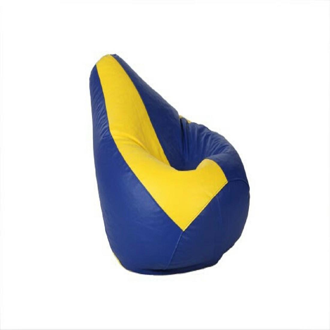 View Sultaan XL Bean Bag Cover(Blue, Yellow) Furniture (Sultaan)