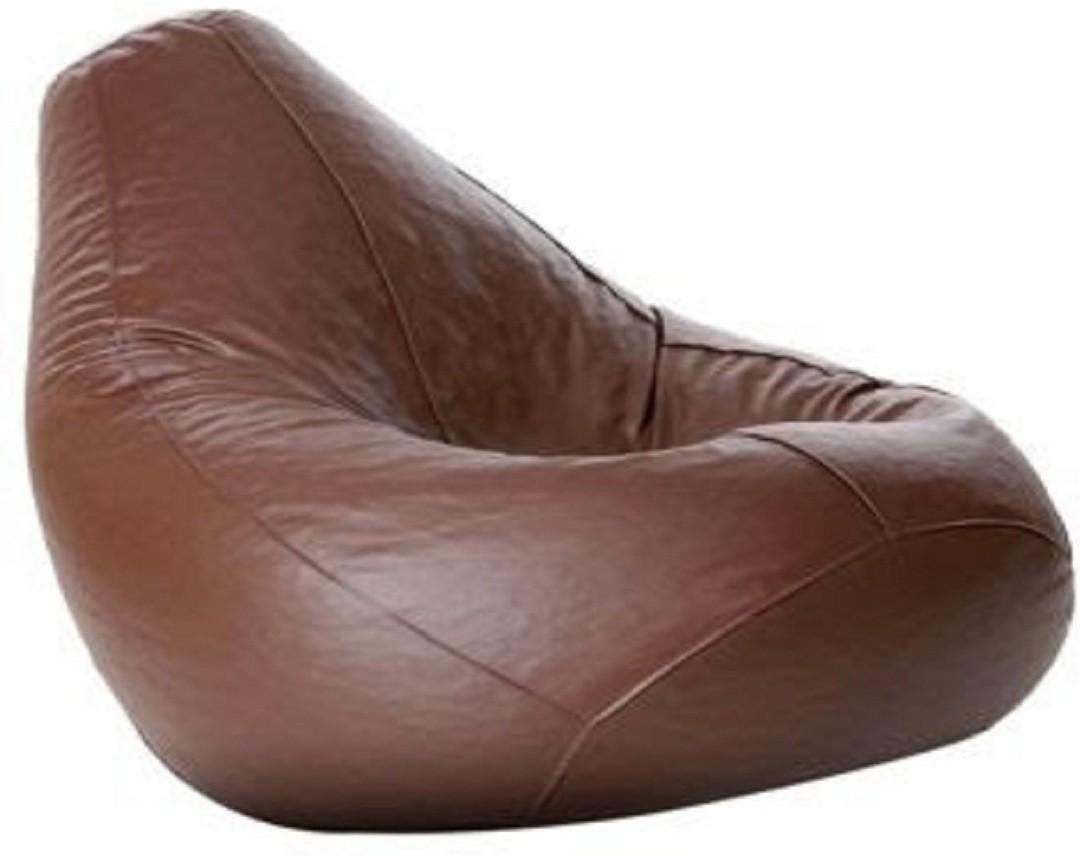 View Sultaan XXXL Bean Bag Cover(Brown) Furniture (Sultaan)