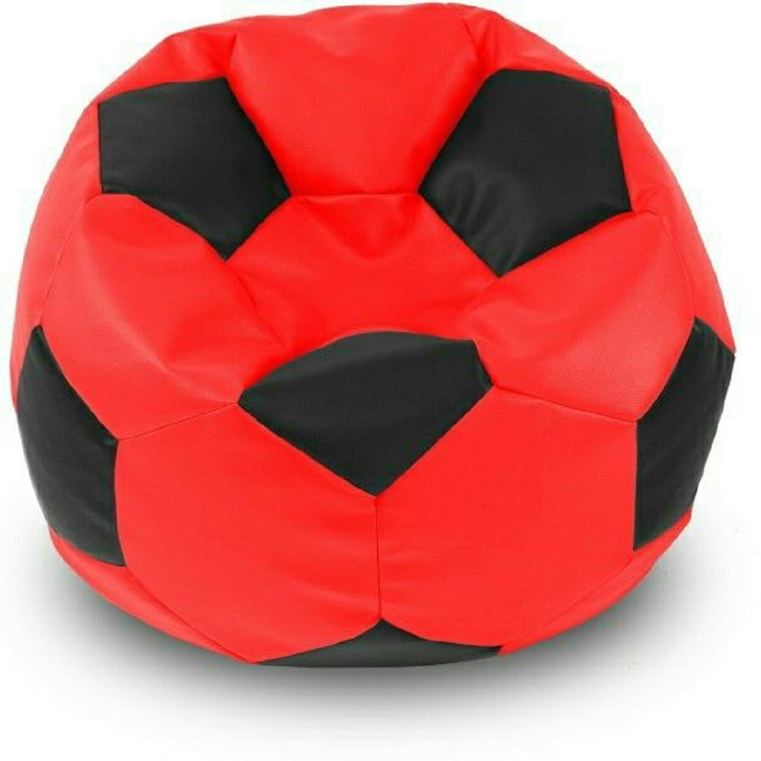 View Sultaan XL Bean Bag Cover(Black, Red) Furniture (Sultaan)