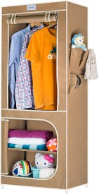 CbeeSo Carbon Steel Collapsible Wardrobe(Finish Color - Beige)