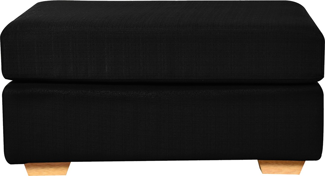 View FabHomeDecor Solid Wood Standard Ottoman(Finish Color - Black) Furniture (FabHomeDecor)