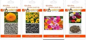 Alkarty Sungold, Sunflower, Cosmos, Zinnia summer flower Seed(20 per packet)
