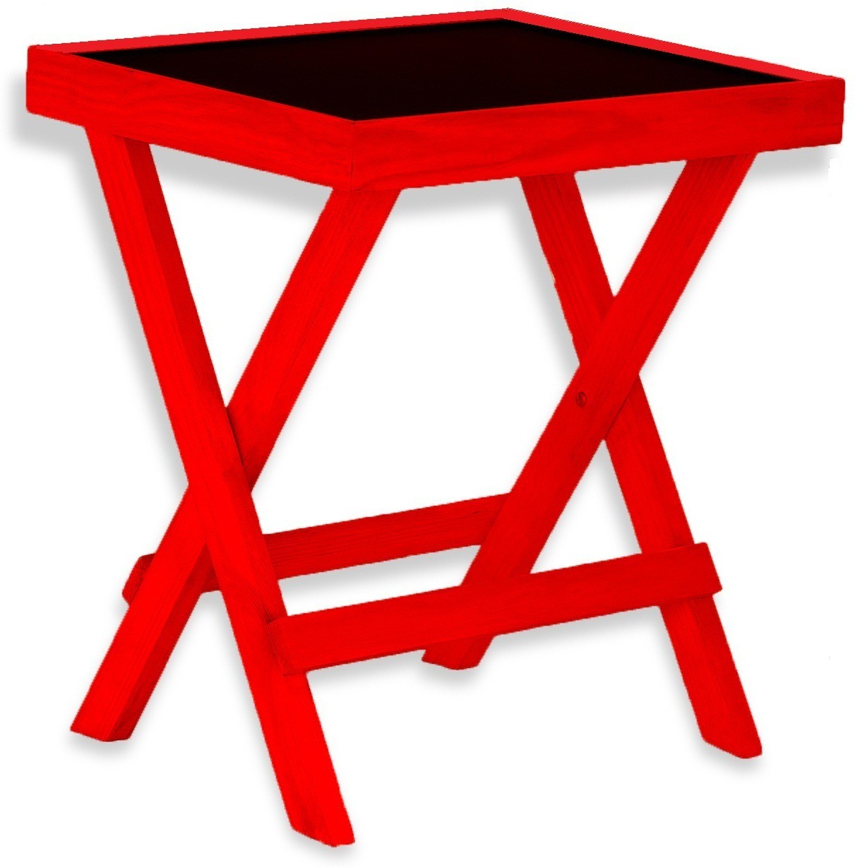 View NETWOOD DESIGNER RED Solid Wood Side Table(Finish Color - RED) Furniture (Netwood Designer)