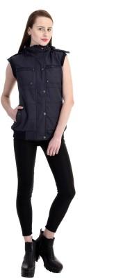 Zupe Sleeveless Self Design Women's Jacket