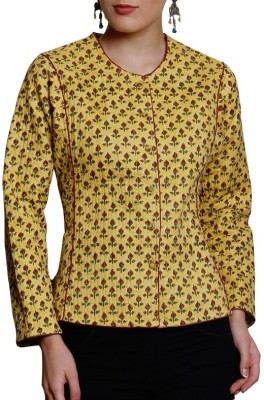 Pink Lemon Full Sleeve Floral Print Women's Jacket