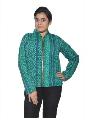 Folks Fashion Sleeveless Geometric Print Women's Jacket