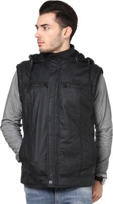 Okane Sleeveless Self Design Men,s Quilted Jacket
