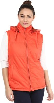 Okane Sleeveless Self Design Women,s Quilted Jacket