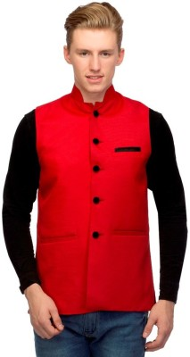 Martech Sleeveless Solid Men's Nehru Jacket Jacket