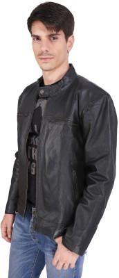 Pranjali Full Sleeve Solid Mens Leather Jacket Jacket