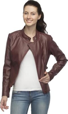 Lambency Full Sleeve Solid Women,s Biker Jacket
