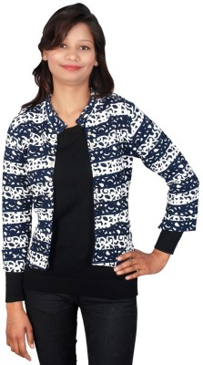 Sheezworld 3/4 Sleeve Printed Women's Wool Jacket