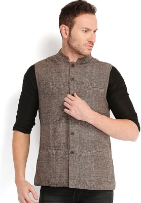 Fabindia Sleeveless Woven Men's Quilted Jacket