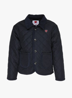 612 League Full Sleeve Solid Boy's Quilted Jacket