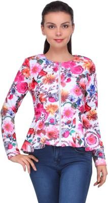 XnY Full Sleeve Floral Print Women's Jacket