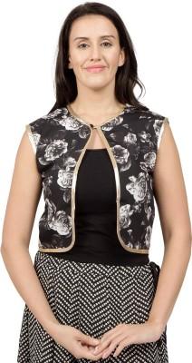 Desi Belle Sleeveless Floral Print Women's Jacket