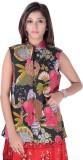 Apratim Sleeveless Printed Women's Jacke...
