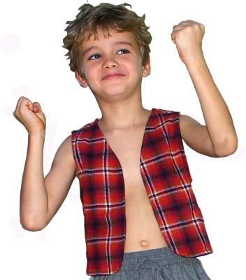 Aummade Sleeveless Checkered Boy's Jacket