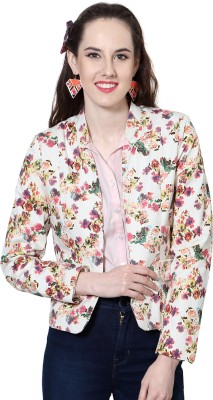People Full Sleeve Printed Women's Quilted Jacket