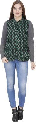 Ethnic Sleeveless Printed Women,s Jacket