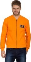Hypernation Full Sleeve Solid Mens Fleece Jacket