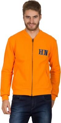Hypernation Full Sleeve Solid Men's Fleece Jacket