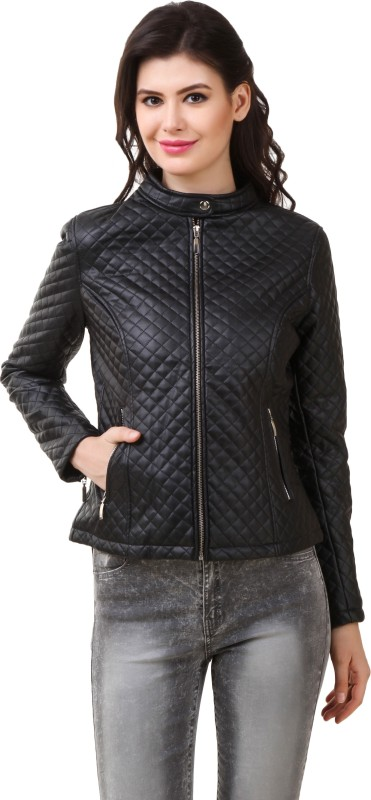 PerryJones Full Sleeve Self Design Women's Jacket