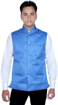 RICH PERK Sleeveless Solid Men's Jacket
