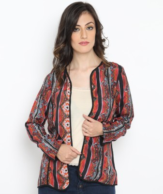 Bedazzle Full Sleeve Printed Women's Jacket