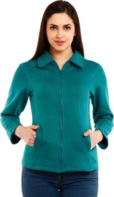 Mustard Full Sleeve Solid Women's Jacket