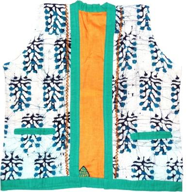 Hand to Hearts Sleeveless Printed Women's Jacket