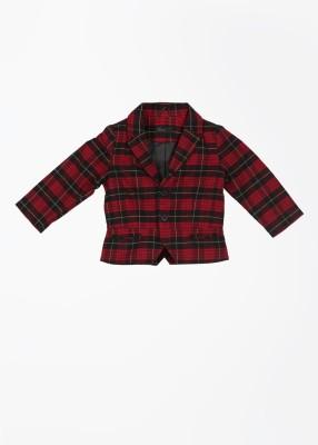 United Colors of Benetton Sleeveless Checkered Girl's Jacket