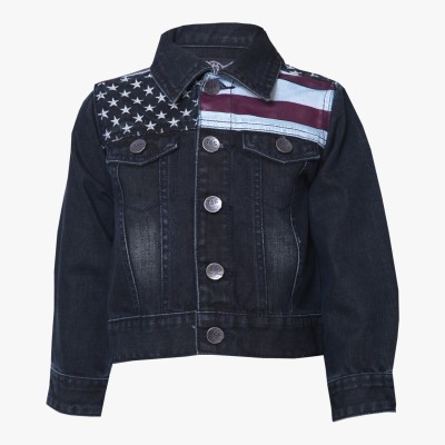 Tales & Stories Full Sleeve Solid Boy's Denim Jacket