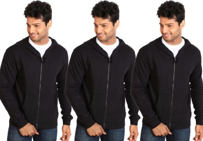 Campus Sutra Full Sleeve Solid Mens Fleece Jacket