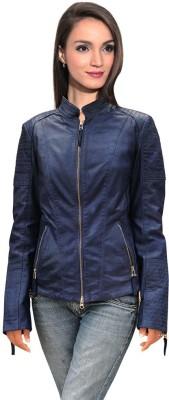 LATHERO Full Sleeve Self Design Women's Jacket