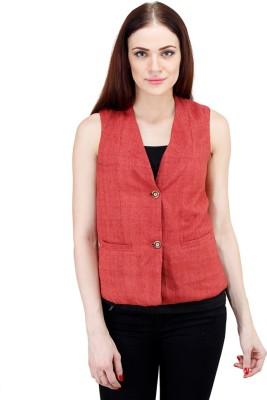 Drap Sleeveless Woven Women's Jacket