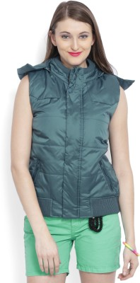 Allen Solly Sleeveless Solid Women's Jacket at flipkart