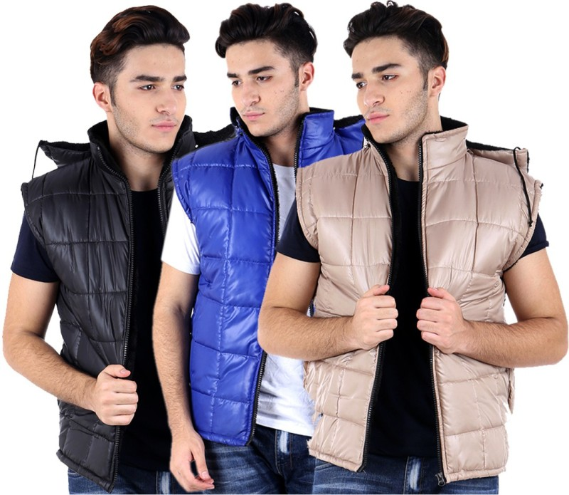 Kritika's World Sleeveless Solid Men's Jacket