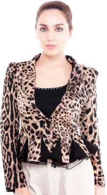 Revoure Full Sleeve Animal Print Women's Jacket