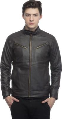 Lambency Full Sleeve Solid Men's Motorcycle Jacket