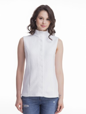 Femella Sleeveless Solid Women's Jacket