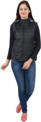 Neenus Sleeveless Self Design Women,s Jacket